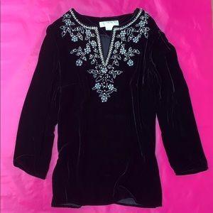Gorgeous Michael Kors velvet tunic, S